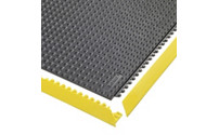 Plug-in floor tile system, ESD studded, highly flame resistant