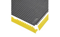 Plug-in floor tile system, ESD, studded