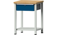 Compact workbench, solid beech worktop