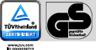 Testovaná bezpečnosť. Ide tu o kontrolnú značku. GS znamená testovanú bezpečnosť.