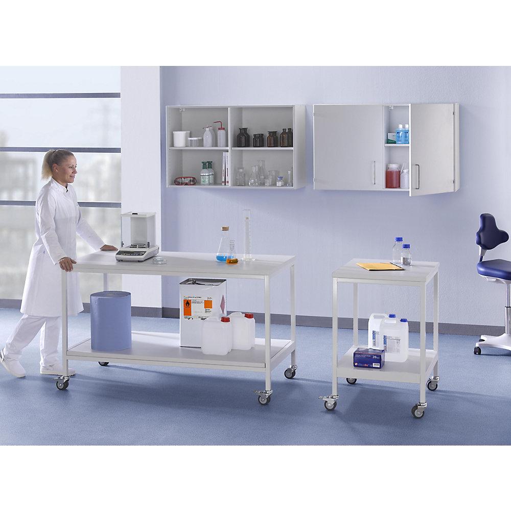 Labor-Fahrtisch, mit Ablageboden, Tragfähigkeit 200 kg, BxTxH 900 x 750 x 900 mm - Labor-Fahrtisch, mit Ablageboden, Tragfähigkeit 200 kg, BxTxH 900 x 750 x 900 mm