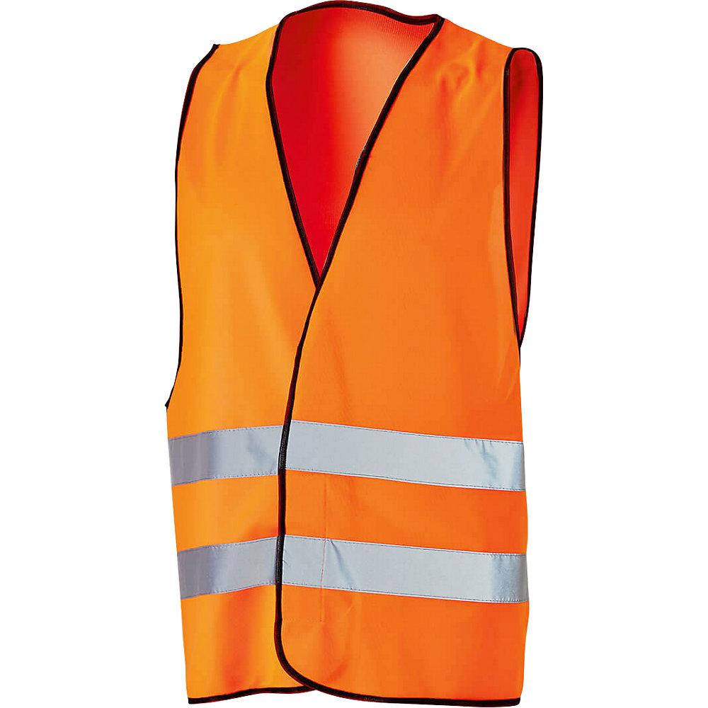 Warnschutzweste, Universalgröße, VE 4 Stück, leuchtorange. - Warnschutzweste, Universalgröße, VE 4 Stück, leuchtorange.