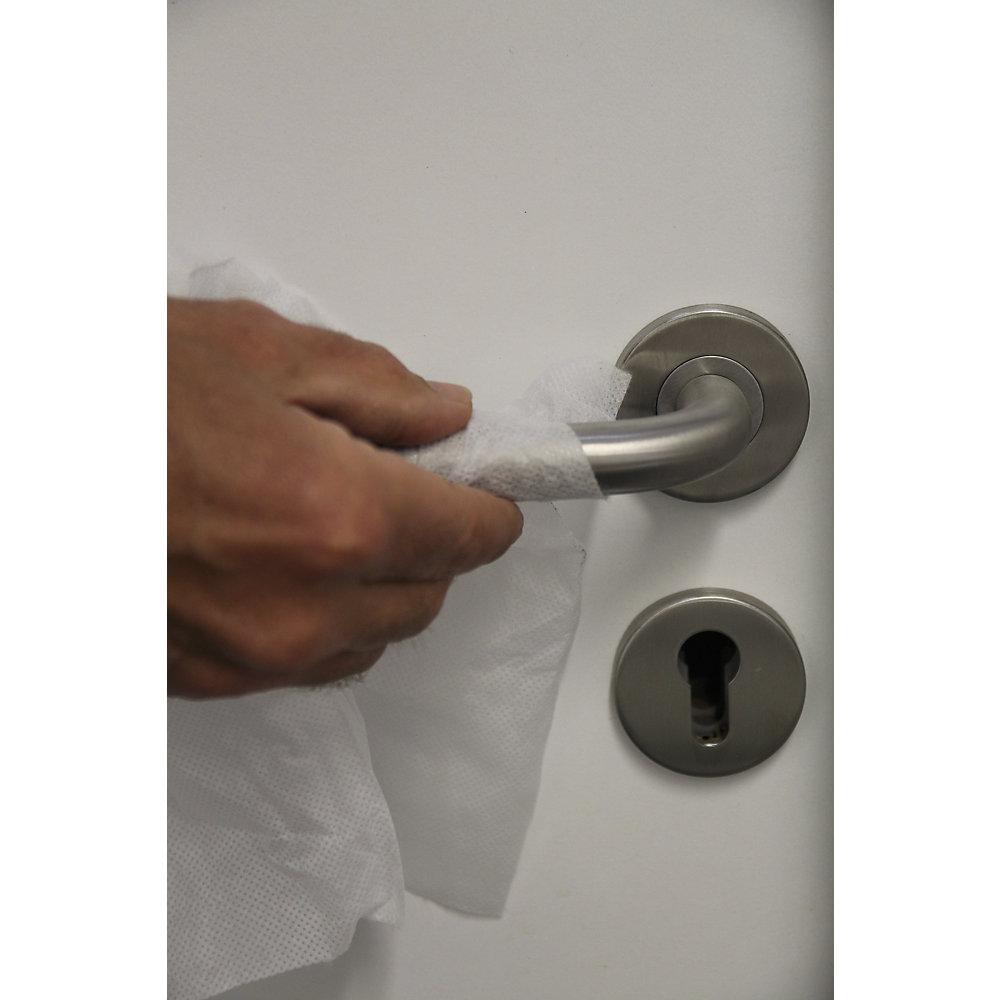 Feuchte Flächen-Desinfektionstücher, für Oberflächen, VE 4 Eimer à 225 Tücher, P - Feuchte Flächen-Desinfektionstücher, für Oberflächen, VE 4 Eimer à 225 Tücher, P