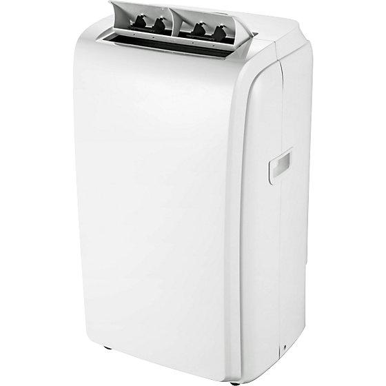 Mobiles Klimagerät 11000 BTU, 3-in-1-Gerät, Kühlleistung 3,2 kW, weiß.