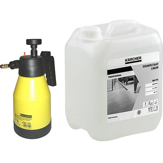 Flächendesinfektions-Reinigungsset, mit 5 l Flächendesinfektion, 1 Pumpsprüher