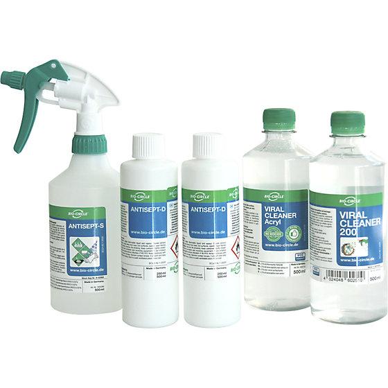 Desinfektionsreiniger-Set, für Oberflächen, Acrylglas und Hände