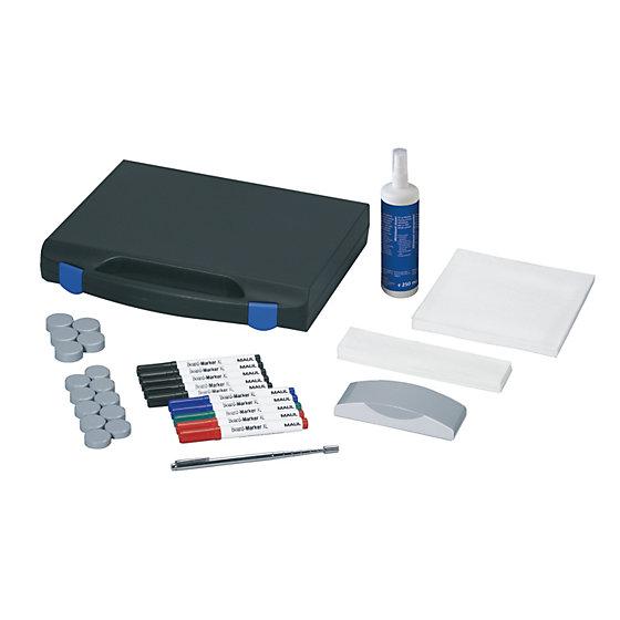 Whiteboard-Zubehör-Set, mit Kunststoffkoffer