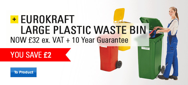 EUROKRAFT large plastic waste bin