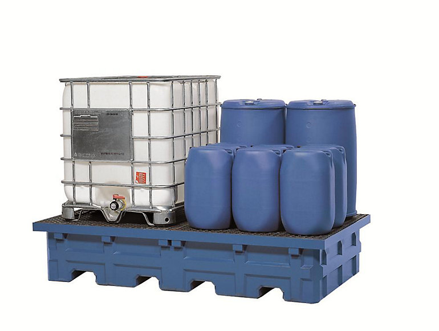 Lagerung entzündbarer und gewässergefährdender Stoffe in Auffangwannen wt$